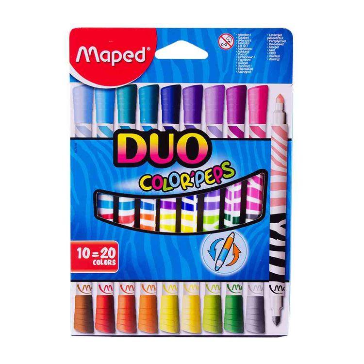 Marcadores-Maped-Duo-X-10-20-Colores-Marcadores-Escolares-Maped-10-Unidades-1-19228