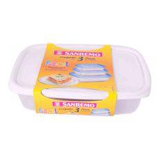 Set-Hermetico-San-Remo-Plastico-Rectangular-Colores-Varios-03-08-18cc-Set-De-Tuppers-De-Plastico-San-Remo-1-33412