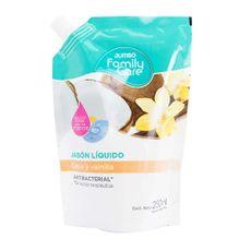 Jabon-Liquido-Coco-Y-Vainilla-Jumbo-Family-Care-Doypack-C--Pico-Vertedor-JabOn-Jumbo-Family-Care-Coco-Y-Vainilla-Repuesto-250-Ml-1-37796