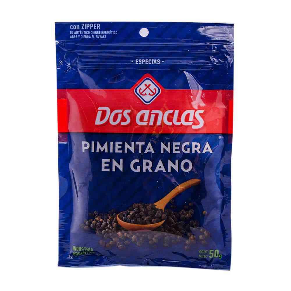 Pimienta negra en grano Dos Anclas  50 grs