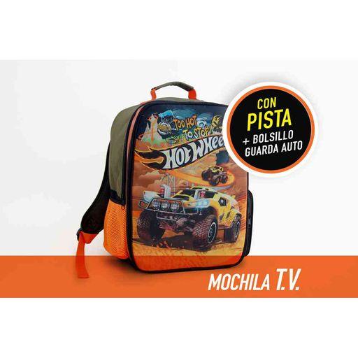 4ea696dc08 Mochila Hot Wheels Espalda 16   Pista Con Sonido - jumboargentina