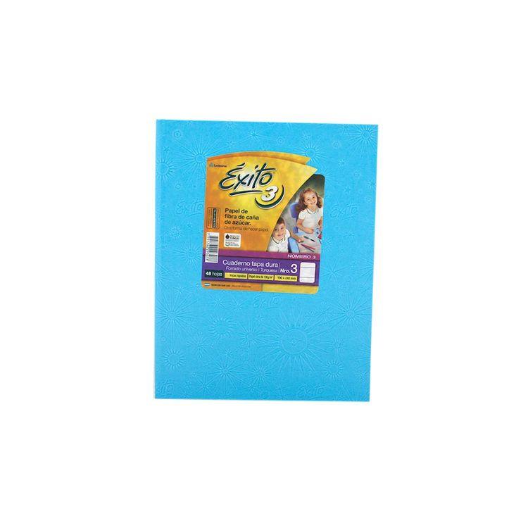 Cuaderno-Rayado-Turquesa-Nº3-exito-48-Hojas-1-34634