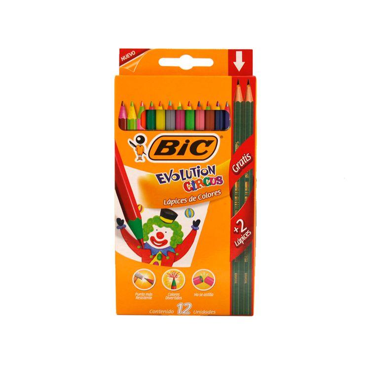 Lapiz-Color-12-Unidades---2-Grafitos-Gratis-Bic-Evolution-Circus-1-37037
