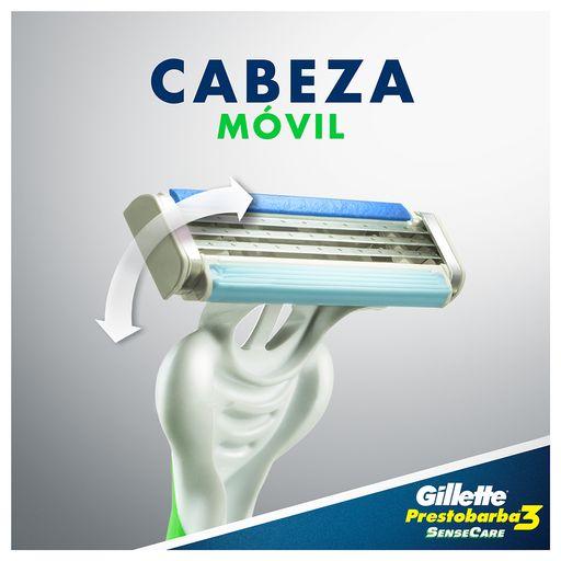 Máquina De Afeitar Gillette Men Sense Care Prestobarba 3 4 U ... 1e22206605d5