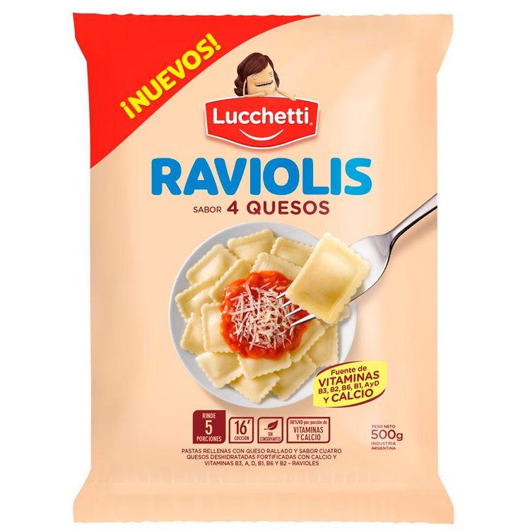 LUCCHETTI RAVIOLIS 4 QUESOS X 500 GRS