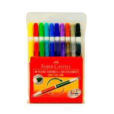 Marcador-Bicolor-Faber-Castell-10-Unidades-1-21142