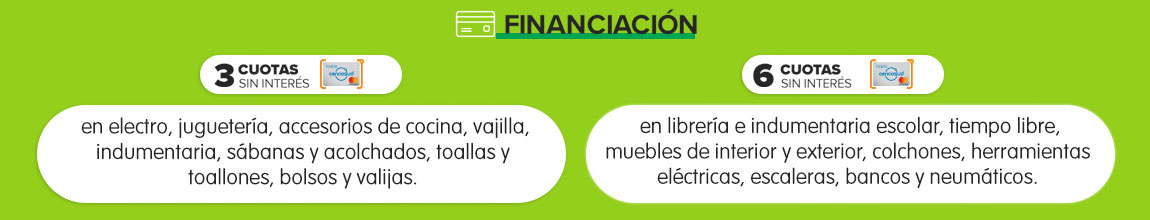 Financiacion - Tarjeta Cenco