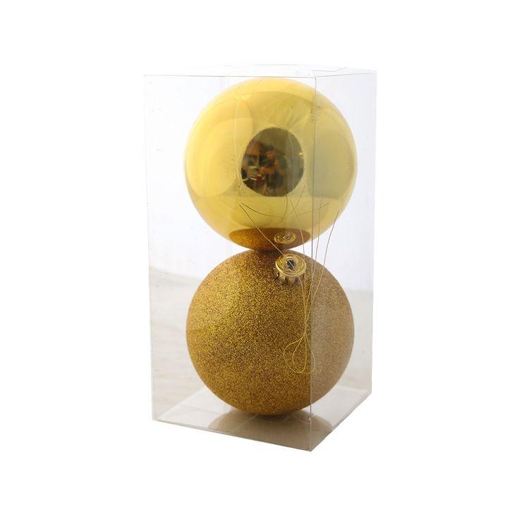 Set-X-2-Esferas-Dorado-Basicas-10cm-1-681066