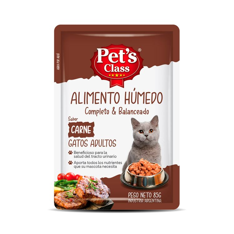 Humedo-Pets-Class-Para-Gato-Adulto-Carne-X-85g-1-837206
