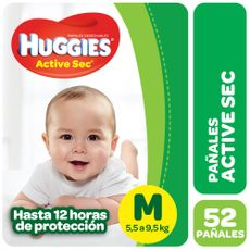 Pañales-Huggies-Active-Sec-M-52-U-1-46145