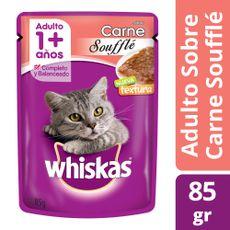 Alimento-Whiskas-Para-Gatos-Souffle-Adulto-Carne-X85g-1-40731