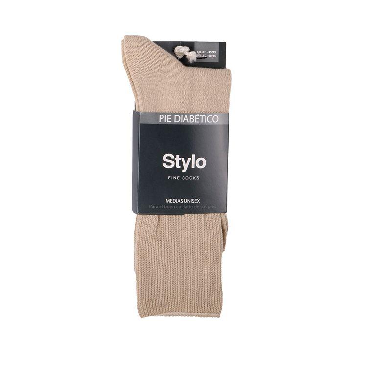 Medias-Stylo-Hombre-Sport-X-1-Par-dralon-Diabetico-zs0848-T2-s-e-par-1-1-509676