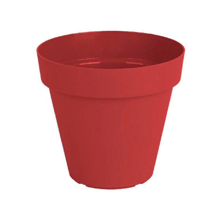 Maceta-Plast-Capri-Outzen-25cm-Rojo-1-856450
