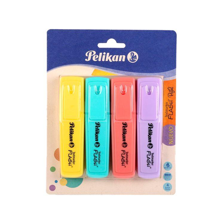 Resaltador-Pelikan-Flash-Pastel-4-Colores-1-462053