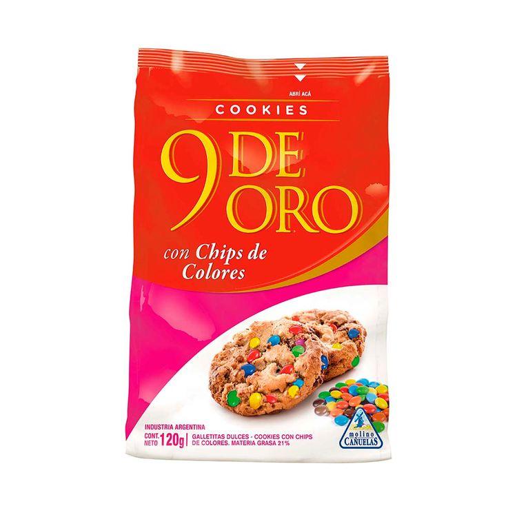 Cookies-9-De-Oro-Chips-Colores-120gr-1-863470