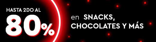 Hasta 2do al 80% En Snacks, Chocolates y mas
