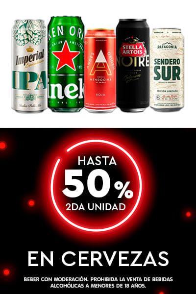 Hasta 2do al 50% En Cervezas
