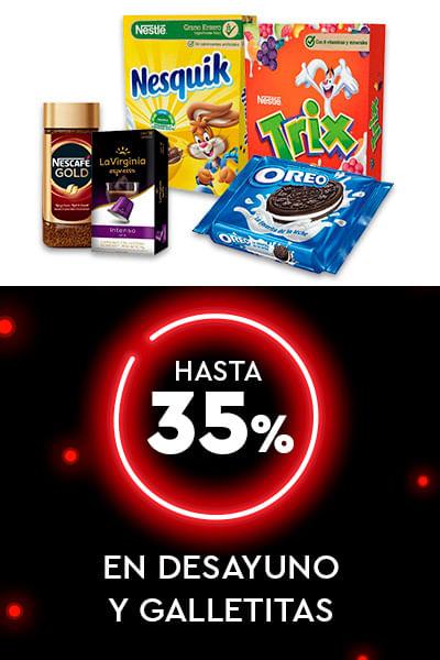 Hasta 35% En Desayuno y galletitas