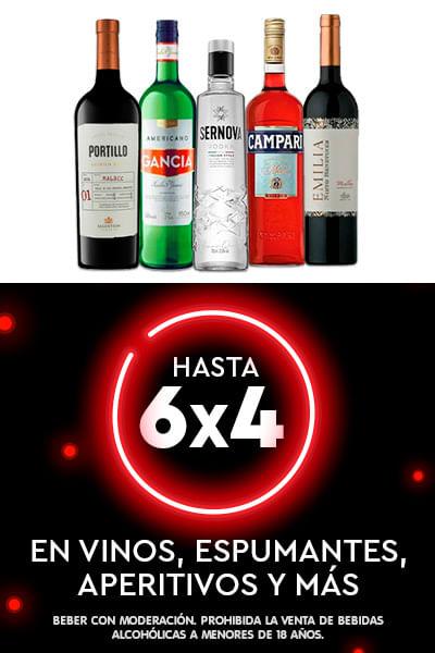 Hasta 6x4 En Vinos, Espumantes, Aperitivos y mas