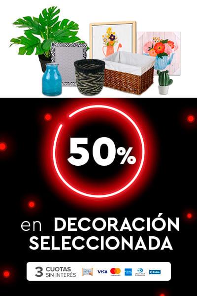 50% en Decoración seleccionada + 3csi