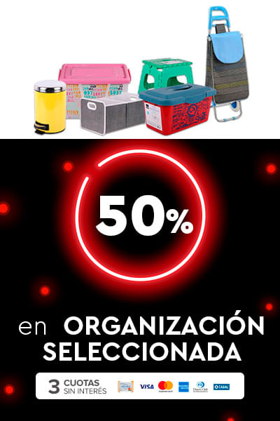 50% en  Organización seleccionada + 3ci