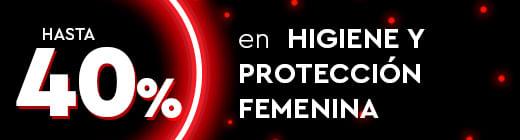 Hasta 40% en Higiene y protección femenina