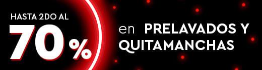 Hasta 2do al 70% en Prelavados y Quitamanchas