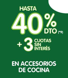 Hasta 40% en accesorios de cocina